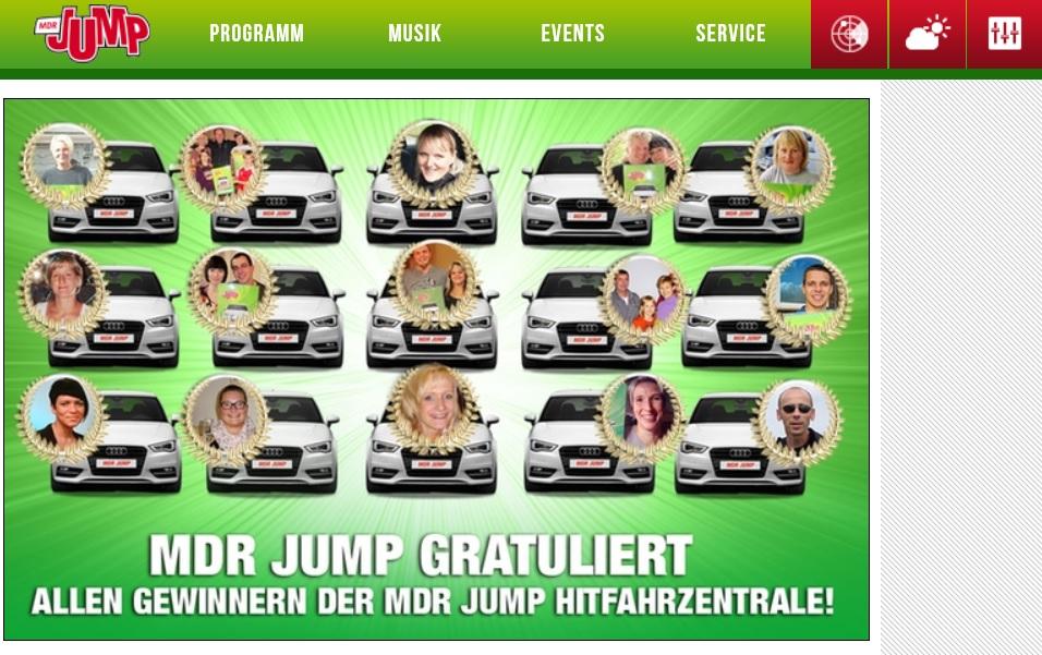 Screenshot MDR Jump Hitfahrzentrale