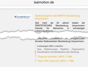 Screenshot Wohlfahrtsverband Redaktion