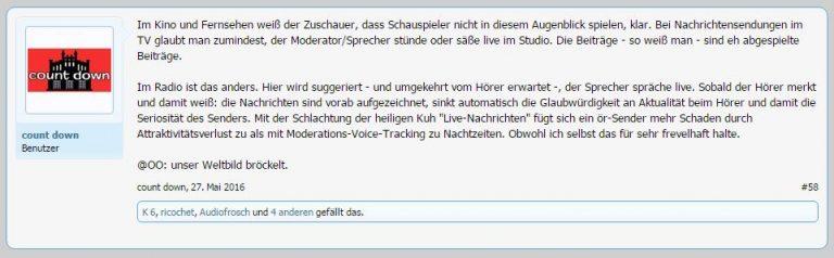 Post radioforen.de - Radionachrichten wirken live