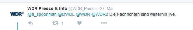WDR-Tweet